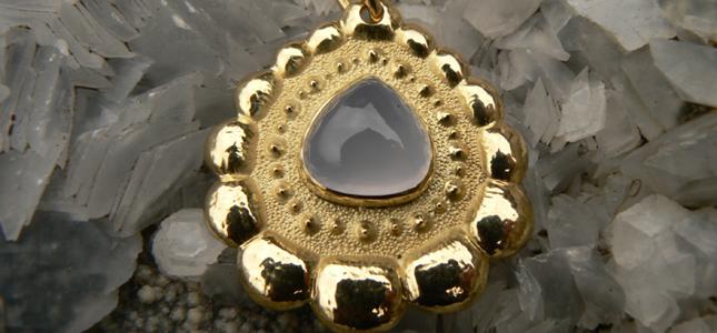 feathered chalcedony | pendants