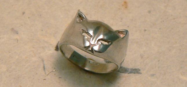 gatto | anelli in argento