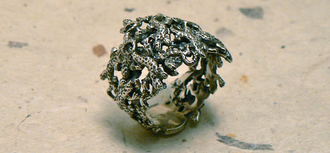geko ring | anelli in argento