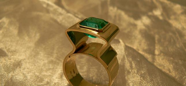 giro smeraldo | anelli in oro