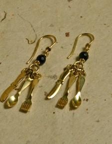 posate | orecchini in oro