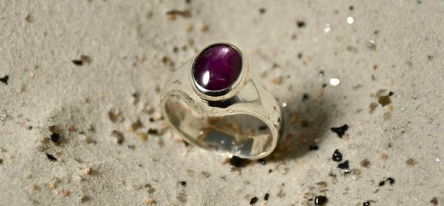 chevalier rubin star | anelli in argento con pietre