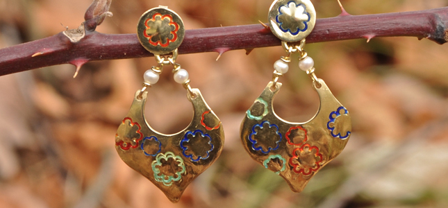 stamp with glazes a goccia | earrings