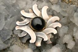 stella nera | ciondolo in argento