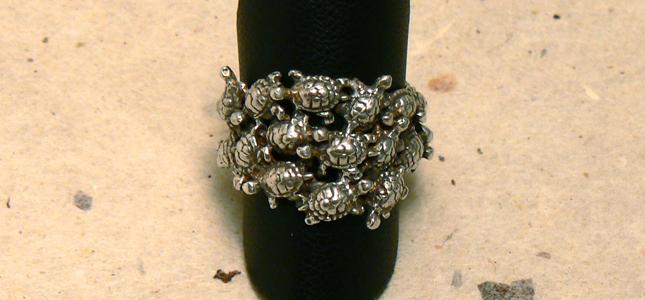 tartarughe | anelli in argento