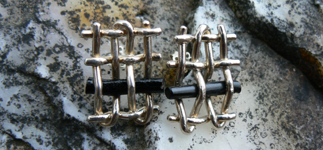 coral plot | earrings